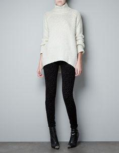 BACKLESS TURTLE NECK SWEATER - Knitwear - Woman - ZARA