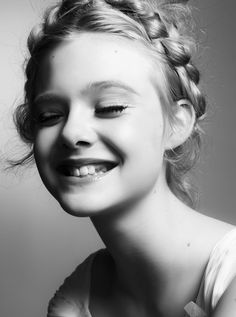 Cute and innocent looking Elle Fanning features inside Interview December 2010 issue. Photographed by Steven Pan, the American actress poses in girlie ensembles in the black 7 white studio spread. Pretty People, Beautiful People, Venice Film Festival, Dakota And Elle Fanning, My Hairstyle, Portraits, We Are The World, Girl Crushes, Hair Makeup