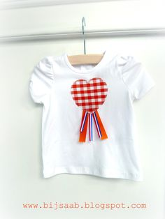 Queensday DIY kids tshirt, koninginnedag, koningsdag
