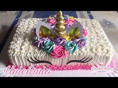 DIY MI CUMPLEAÑOS partido del unicornio: flores gigantes de papel, torta falsa, caminos de mesa, y + - YouTube