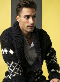 Masculine with warmth cardigan sweater for those upcoming chilly days/nights !