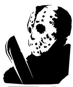 jason pumpkin stencil - Google Search