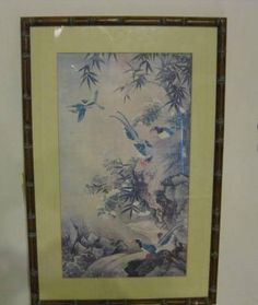 Magnificent Vintage Flowers and Bird by WHISTLESTOPTRAINSHOP
