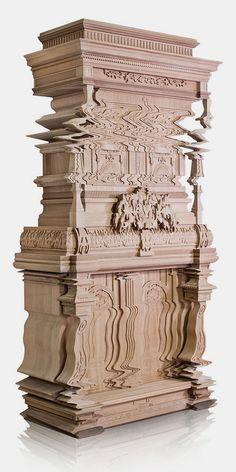 Good Vibrations, distorted furniture by Ferruccio Laviani