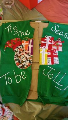 It's the season to be jolly ugly Christmas sweatshirt for my sister miss Elvia ●<:0)