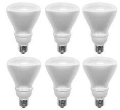 Ecosmart 14-Watt Soft White Compact Fluorescent R30 Flood Light Bulbs CFL 6 Pack (equivalent to standard 65 watt bulbs). Save up to $264 in energy costs over the life of the bulbs. Soft white R30 flood | Light output: 650 lumens | Color: 2700K. Life hours: 8000 hours. Suitable for both indoor and outdoor use, the Ecosmart 14-Watt (65W) R30 CFL Light Bulbs .6-Pack. last up to 8,000 hours. 65-watt equivalent. Energy Star Rated. The reflector-shaped light bulbs are Energy Star...