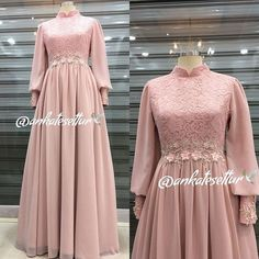 Hijab Prom Dress, Dress Brukat, Hijab Evening Dress, Hijab Style Dress, Evening Dresses, Dress Outfits, Dress Brokat Muslim, Dress Pesta, Muslim Dress
