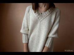 Вязаный пуловер регланом. Описание свитера ♥ Вяжем спицами ♥ Wild Rose ♥ Вязание - это просто ♥ // Эмма Гарбузова Chrochet, Knit Crochet, Knitting Projects, Needlework, Dressing, Pullover, My Style, Clothes, Hobby Ideas