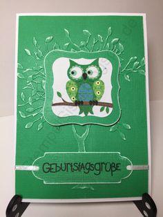 Geburtstag Karte Eule Birthday owl card Birthdaygreetings #StempelSissi #Sissi_s_kreatives_Kämmerlein