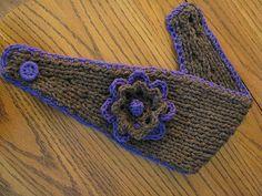 Flower Headband / Earwarmer pattern by Katie LeComte