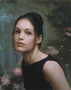 """Ms. Sara Kushinsky"" - Dorian Vallejo, oil on canvas {contemporary figurative artist beautiful female head woman face portrait painting #loveart} doriansportraits.com"