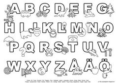 Pyssliga barn: Färglägga bokstäver och siffror Montessori, Alphabet Crafts, Working With Children, Coloring Pages For Kids, Preschool Activities, Kids Learning, Elementary Schools, Letters, Teaching