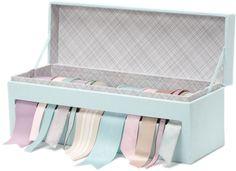 Martha Stewart Ribbon Storage Box - Cloud - I neeeeeeeeeeeed this!!!!