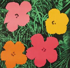 psychedelic-sixties:  Andy Warhol Flowers, 1964.