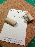 recycled wine cork earring card hole punch - Sleepless Beader: December 2012