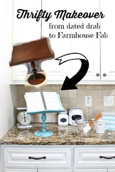 Fab idea for an iPad Recipe Holder – Thrifty Makeover