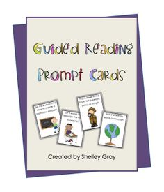 """FREE LANGUAGE ARTS LESSON - """"Guided Reading Prompt Cards"""" - Go to The Best of Teacher Entrepreneurs for this and hundreds of free lessons.   1st - 4th Grade    #FreeLesson   #TeachersPayTeachers   #TPT   #LanguageArts  http://www.thebestofteacherentrepreneurs.net/2011/06/free-language-arts-product-guided.html"""