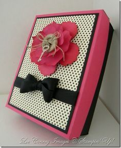 Card box tutorial - can use to give card sets as a gift or to hold a single handmade card you've slaved over!