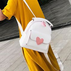 Black/White Harajuku Heart Backpack SP1710273