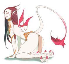 "⛥N̵e̷g̷a̵S̶h̷e̶p̷⛥ on Twitter: ""✨💖… "" Female Character Design, Character Design Inspiration, Character Art, Monster Design, Monster Art, Anime Monsters, Creature Concept, Art Reference Poses, Fantasy Girl"