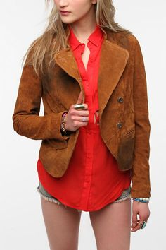 Sparkle & Fade Oil-Stained Suede Jacket. It's an oil stained suede jacket, don't we all want one.