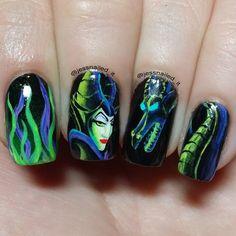 Disney's Maleficent Nails