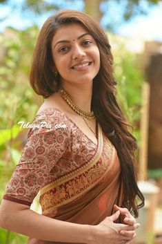 Kajal Agarwal is one of the most popular and beautiful actresses South Indian Actress. She is also work in Bollywood. Kajal Agarwal work on many South Indian Movies and Bollywood Movies. South Actress, South Indian Actress, Beautiful Indian Actress, Beautiful Actresses, Beautiful Saree, Beautiful Gorgeous, Beautiful Women, Hot Actresses, Indian Actresses