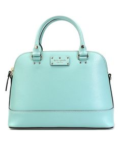 Look at this #zulilyfind! Robin's Egg Rachelle Wellesley Small Satchel by Kate Spade #zulilyfinds
