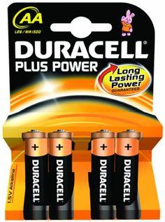 Piles alcalines Duracell plus power LR06