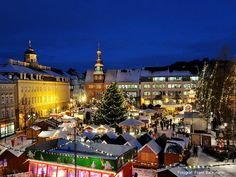 Christmas Market, Winter, Eisenach, Thüringen, Germany