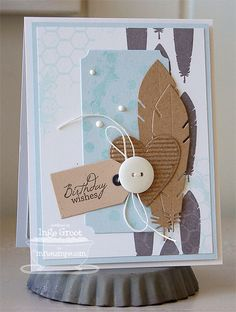 Document It - Right on Target; Distressed Background Blocks; Peaceful Wildflowers; Accent It - Feathers and Arrows; Vertical Frame Die-namics; Blueprints 3 Die-namics; Hearts a Plenty Die-namics - Inge Groot