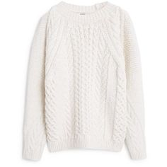 MANGO Chunky-Knit Sweater (545 ARS) ❤ liked on Polyvore featuring tops, sweaters, jumpers, shirts, cable-knit sweater, knit sweater, white shirt, long sleeve shirts and chunky cable knit sweater