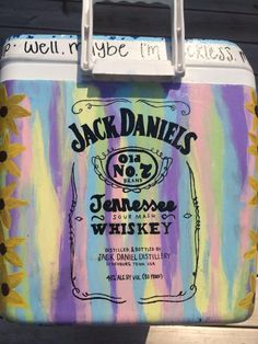 Love the quote around the top Sorority Paddles, Sorority Crafts, Sorority Canvas, Sorority Recruitment, Fraternity Coolers, Frat Coolers, Jack Daniels Cooler, Formal Cooler Ideas, Cooler Connection