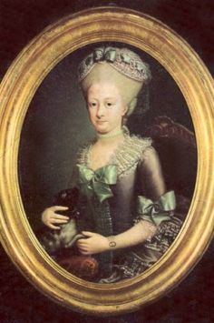 Queen Maria Carolina of Naples-Two Sicilies - love the gray and green contrast on her gown