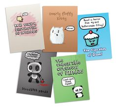 New A6 notebooks featuring more of or cutest/most horrifying designs! (Avoid those evil Cupcakes- no matter how delicious they look!) Available from www.genkigear.com