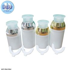 ขวดปั้มครีมสูญญากาศ ขวดถังนม แหล่งบรรจุภัณฑ์เครื่องสำอางค์และรับสกรีน500ชิ้น