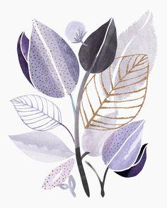 Modern Lavender Watercolor Framed Art Print by moderntropical - Vector Black - MEDIUM Abstract Watercolor, Watercolor Flowers, Watercolor Paintings, Watercolour, Plant Art, Framed Art Prints, Modern Art Prints, Leaf Art, Botanical Art
