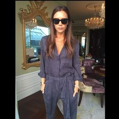 Blue jumpsuit Victoria Beckham