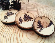 Christmas decorations Christmas toys Rustic Christmas Decor Modern Christmas Woode Christmas Decor Christmas set Set of Three Wooden Christmas decorations Christmas toys Rustic Christmas by HolgaArt (Diy Ornaments Paint) Items similar to Wooden original C Homemade Christmas Decorations, Wooden Christmas Ornaments, Christmas Signs, Christmas Diy, Black Christmas, Natural Christmas Ornaments, Father Christmas, Christmas Wreaths, Christmas Vacation