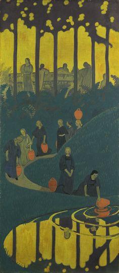 Paul Sérusier, Women at the Spring, Musée d'Orsay - Les Nabis Paul Gauguin, Art And Illustration, Illustrations, Maurice Denis, Art Français, Academic Art, Art Moderne, Art Abstrait, French Art