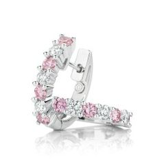 Delicate Argyle Pink Diamond Hoop Earrings also featuring of White Diamonds set in White Gold. Argyle Pink Diamonds, Diamonds And Gold, Titanic Jewelry, Diamond Hoop Earrings, Thomas Sabo, Jewelry Photography, Rose, Swarovski, Fine Jewelry