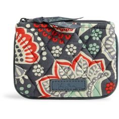 Vera Bradley Coin Purse in Nomadic Floral ($14) ❤ liked on Polyvore featuring bags, wallets, nomadic floral, coin bag, vera bradley, coin change purse, zip top bag and vera bradley bags