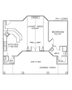 amazingplanscom house plan ph 239d beach pilings cabin - Drawing House Plans