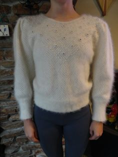 1980s angora sweater. I had one that was very similar. Yikes.