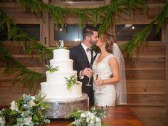 Megan & Devin's rustic elegant wedding at Destrehan Plantation's Mule Barn. Photos: Jamie Heyl Photography | Bride's Gown: Kenneth Winston | Groom's Tux: Joseph Abboud | Florist: Root Florals | Cake: Gambino's Bakery