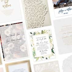 Your wedding theme or style refers to the overall look you're trying to achieve. The colors, the decorations, the accents, the venue will all play an important role in revealing your particular sense of style and personalities. Unless you choose to order a save the date, the wedding invitation card is the first impression your wedding guests will have of your wedding and wedding look – make it a good one! Wedding Invitation Trends, Custom Wedding Invitations, Bridal Shower Invitations, Scripture Verses, Wedding Looks, Save The Date, Stationery, Decorations, Play