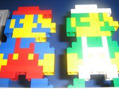 Mario & Luigi Lego Art