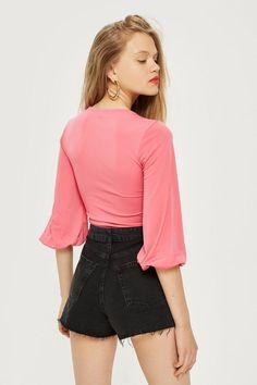 afab7e5f2057 Mom Authentic Rip High Rise Short - Topshop Thailand Denim Outfit, Denim  Shorts, High