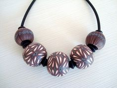 Polymer clay hollow beads   by malo ustvarjalno