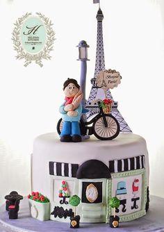 New cupcakes decorados mujer 48 ideas Paris Themed Cakes, Paris Cakes, Cupcakes, Cupcake Cakes, Parisian Cake, Building Cake, City Cake, Travel Cake, Fantasy Cake